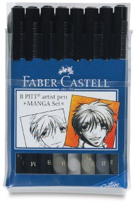 Faber-Castell Pitt Artists Pens (8pc Manga Set)